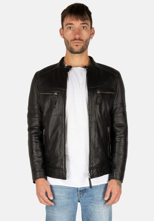 MYSTERY MOON BLACK LEATHER JACKET