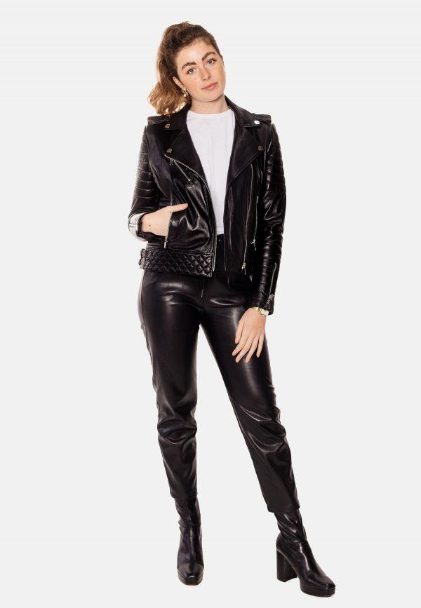 black perfecto leather jacket