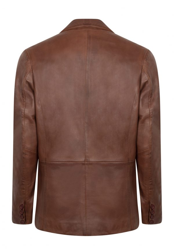 HYPE BROWN LEATHER BLAZER