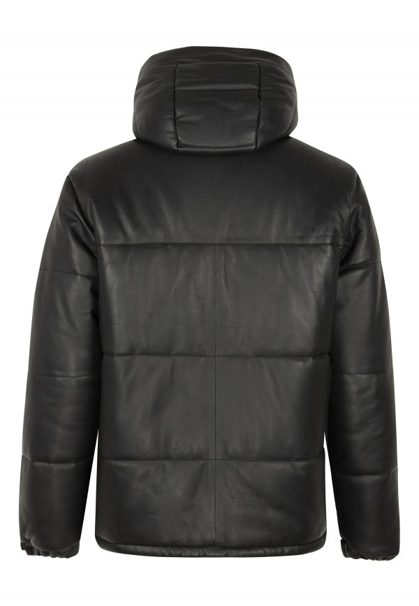 polaris leather puffer parka
