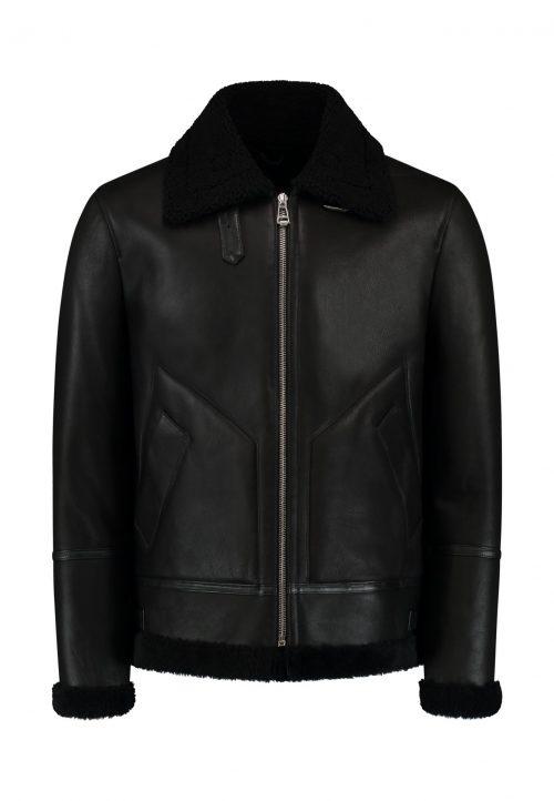 Shearling lammy jacket THE HUNTER – winter jacket – black