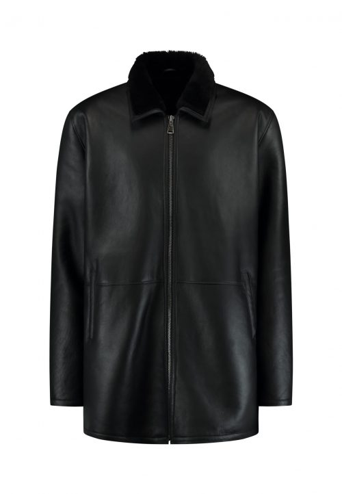 Shearling Lammy coat APPOLLO  – winter coat – black