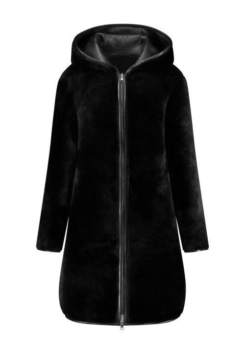 Reversible shearling lammy coat GEMINI – winter coat – black